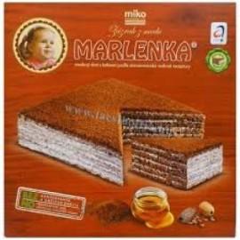 Marlenka mézes torta kakaós 800g