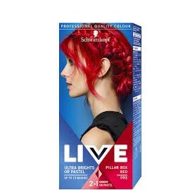 Schwarzkopf Live Color hajszínező 92 Piros