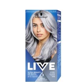 Schwarzkopf Live Color hajszínező 98 Acélos ezüst