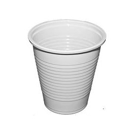 Műanyag pohár - 1 dl fehér 100db