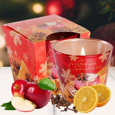 Bartek poharas gyertya 115g -Golden Christmas