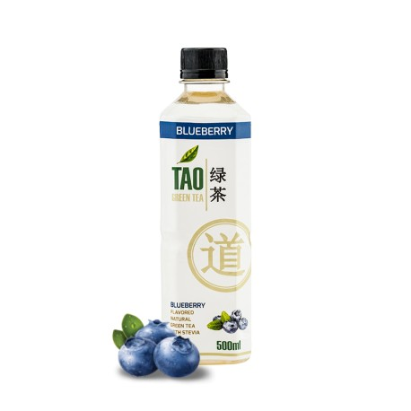 TAO GREEN TEA - BLUEBERRY 0.5L
