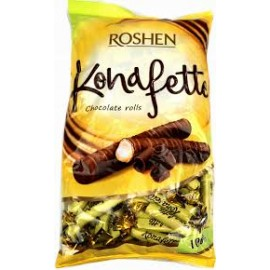 Roshen Konafetto Bianco tejes krémmel töltött ostyarúd bevonóban 1kg