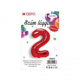 2 szám piros lufi