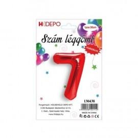 7 szám piros lufi