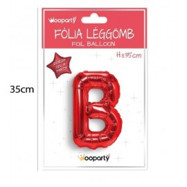 B betű lufi piros