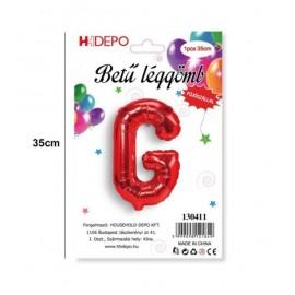 G betű lufi piros
