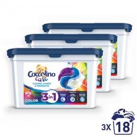 COCCOLINO Kapszula színes ruhákhoz 3 x 18 db
