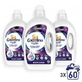 COCCOLINO mosógél sötés ruhákhoz, 3x60 mosás, 3 x 2,4 l