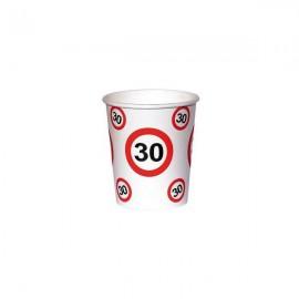 30. szülinapi sebességkorlátozó papír pohár 6 db