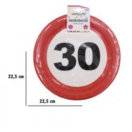 30-as szülinapi tányér