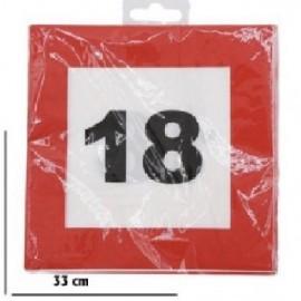 18-as Számos Sebességkorlátozó Szülinapi Parti Szalvéta