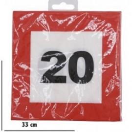 20-as Sebességkorlátozó Szülinapi Parti Szalvéta 12db 33cmx33cm