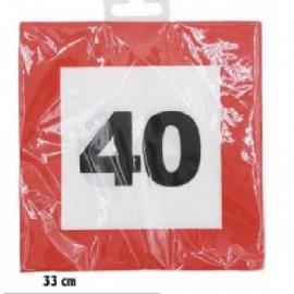 40-as Sebességkorlátozó Szülinapi Parti Szalvéta 12db 33cmx33cm
