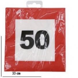 50-as Sebességkorlátozó Szülinapi Parti Szalvéta 12db 33cmx33cm