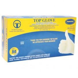 Top Glove Latex vizsgálókesztyű púderes M 100db