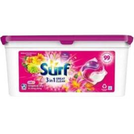 Surf Mosókapszula 34db- Tropical lily