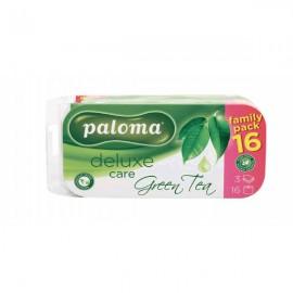 Paloma Deluxe 3 rétegű toalettpapír, Zöld tea, 16 tekercs