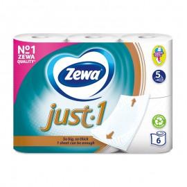 Zewa Just-1 toalettpapír 6 tekercs 5 rétegű fehér