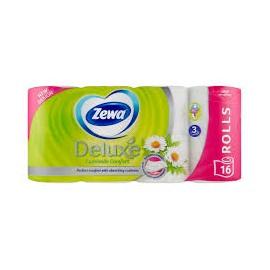 Zewa Deluxe 3 rétegű toalettpapír, Camomile Comfort, 16 tekercs