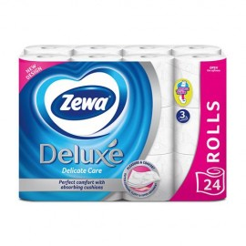 Zewa Deluxe 3 rétegű toalettpapír, illatmentes, 24 tekercs