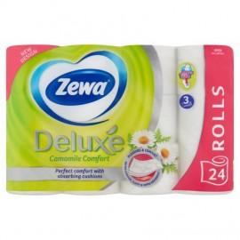 Zewa Deluxe 3 rétegű toalettpapír, Camomile, 24 tekercs